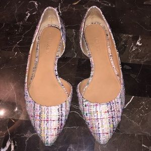 J Crew multi color pointed toe flats